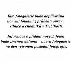 Oprava silnice a chodníků v Třebihošti 8.5.-11.6.2019